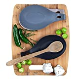 Modern Silicone Spoon Rest - Kitchen Utensil Holder - Quality Material