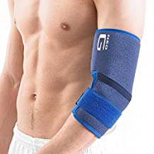 NEO G Elbow Support - Medical Grade Quality HELPS support injured, weak or arthritic elbows, epicondylitis, Tennis/Golfers elbow, sprains, repetitive strain injuries & recovery - ONE SIZE Unisex Brace