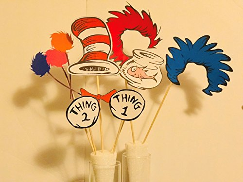 Dr Seuss Cat In The Hat Thing 1 Thing 2 Photobooth Prop Dr