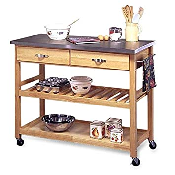 Amazon.com - Stainless Steel Top Kitchen Cart Utility Table ...