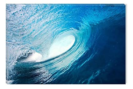 Amazon.com: Startonight Canvas Wall Art Ocean Wave, Water USA Design ...
