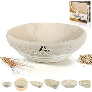 Amazy Banneton para pan / La ideal cesta para masa y fermentación ...