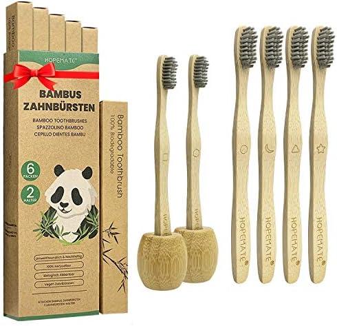 Cepillo Dientes Bambu Paquete de 6 + 2
