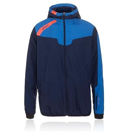 Amazon.com : ASICS Windbreaker Mens Running Jacket - Blue ...