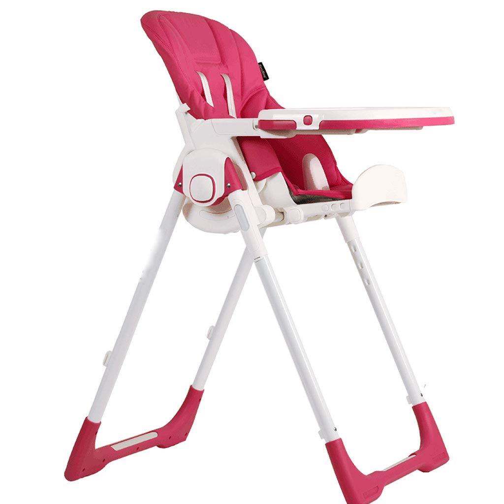 折り畳み式子供用ダイニングチェアポータブルチャイルドシートは、リクライニングチェアーの椅子に座ることができます多機能子供用ダイニングテーブルとチェア (Color : Red)  Red B07JBBWCL2