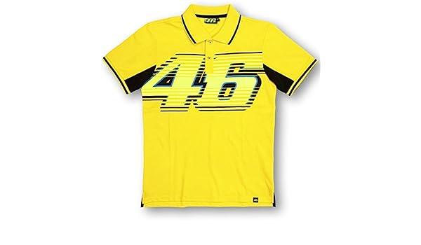 Valentino Rossi VR46 grande 46 Moto GP Polo camisa amarilla ...