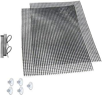 Panel de malla para el musgo de una pecera (plantas no incluidas)Incluye 2paneles de malla, 10bridas y 5 ventosas.