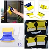 MAZIMARK--Magnetic Double Sided Window Glass Cleaner Wiper Scraper Brush Cleaning Tool New
