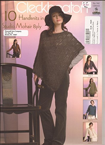 Cleckheaton Knitting Pattern Book #942: 10 Handknits in Studio Mohair 8ply