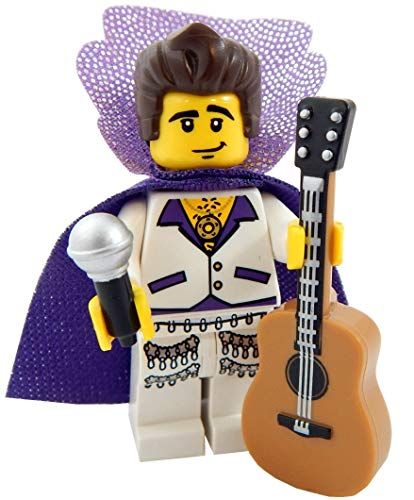 LEGO King of Rock and Roll with Guitar and Microphone Toy - Custom Singer Musician Minifigure ()