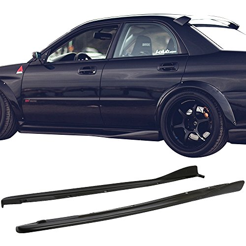 Side Skirt Fits 2002-2007 Subaru Impreza WRX STI | CS Style Side Skirts 2PC Polyurethane PU by IKON MOTORSPORTS |  2003 2004 2005 ()
