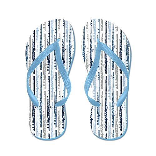 CafePress Flute - Flip Flops, Funny Thong Sandals, Beach Sandals Caribbean Blue