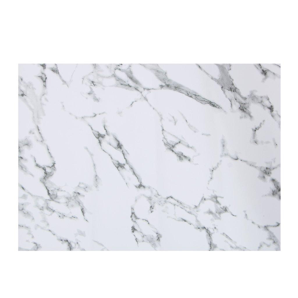 Kofun PVC Mat, Marble Pattern Stripe Place PVC Table Mat Dishware Coasters for Kitchen Black