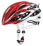 2015 Uvex Unisex Race 1 Helmet Red and White Small / Medium 51-55cm