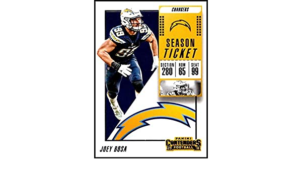629403dc8 Amazon.com  2018 Contenders NFL Season Ticket (Base)  50 Joey Bosa Los  Angeles Chargers Official Football Trading Card made by Panini   Collectibles   Fine ...