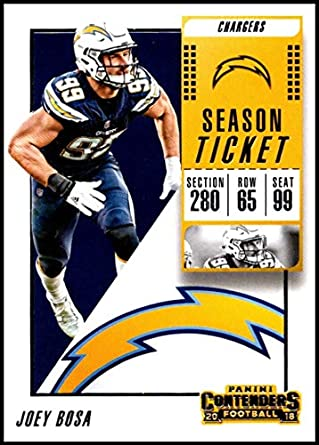 914d885a0 2018 Contenders NFL Season Ticket (Base)  50 Joey Bosa Los Angeles Chargers  Official