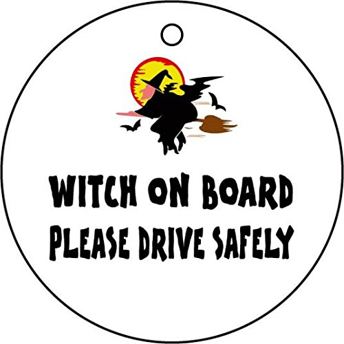 Witch On Board/Halloween Car Air Freshener ()