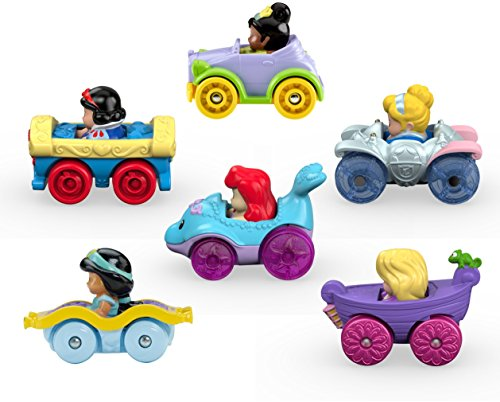 Fisher-Price Little People Disney Princess, Wheelies Gift Set (6 Pack) [Amazon Exclusive] (Little White Car)