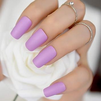 Amazon.com  Elegant Violet Purple Long Matte False Fake