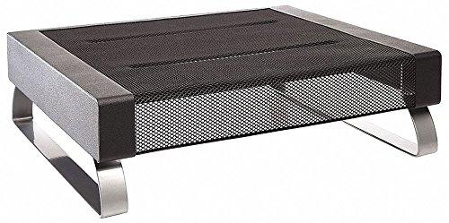 Black Silver Rolodex - ROLODEX Monitor Stand, Black/Silver, 35 lb.