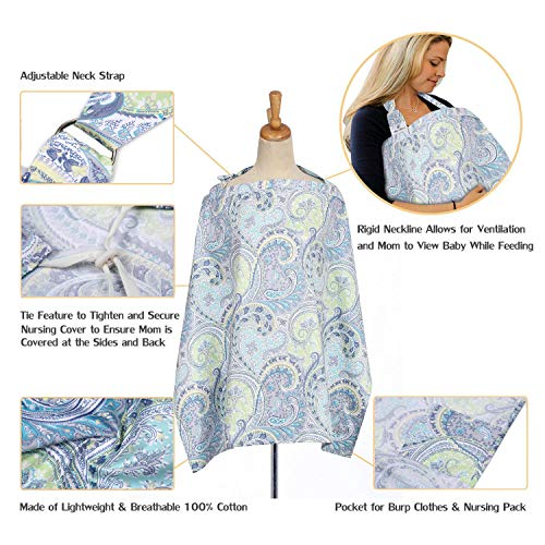 FicBox Breast Feeding Nursing Cover Made By Cotton (X) by QUNQI STAR (Image #1)