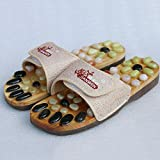 Magnetic massage slippers natural foot massage shoes health shoes acupuncture massage slippers , meters white , 41