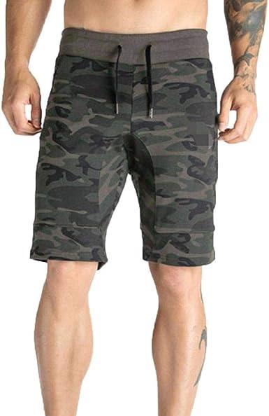 Pantalones Cortos Hombre Verano 2019 Nuevo SHOBDW Tallas Grandes Pack Pantalones Cortos Hombre Cordón Elástico Cómodo Suelto Casual Camuflaje Pantalones Hombre Bolsillos: Amazon.es: Ropa y accesorios