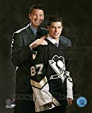 Sidney Crosby Mario Lemieux 8x10 Color Photo Pittsburgh Penguins
