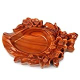 SSBY Natural Wood Carving Handicraft Ornaments Creative Personality Peach-Shaped Mantou Ashtray