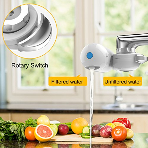 HOBFU Faucet Water Filter, Tap Water Purifier Filter Water Purifying Device for Home Kitchen,6 Stage Water Filtration Faucet Mount, Different Kinds of Interfaces, Suitable for Most Faucets,