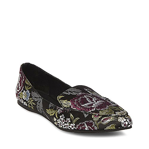 Floral Leather Heels (Steve Madden Women's Feather Floral Multi 430 8 US)