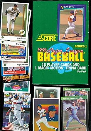1991 Score Baseball Set Wax Pack Box Series 1 Bonus