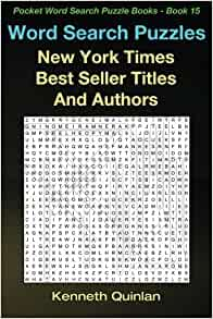 Word Search Puzzles: New York Times Best Seller Titles And