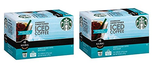 Starbucks Iced Coffee 10 k-Cups (Pack of 2) (K Cups Iced Coffee compare prices)