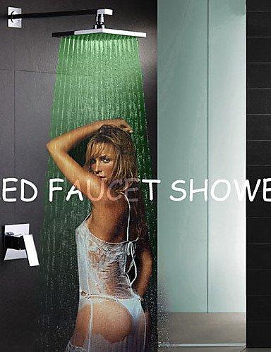 Duscharmaturen/Badewannenarmaturen - Zeitgen?ssisch - LED/Wasserfall/Regendusche - Messing ( Chrom )