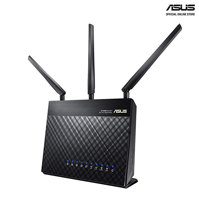 Renewed  ASUS RT AC68U Dual Band Gigabit Router 802.11ac Wireless AC1900 Ver: C1 Routers  Computers   Accessories