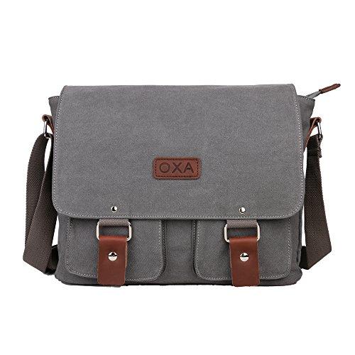 OXA Vintage Canvas Messenger Shoulder Bag for 1...
