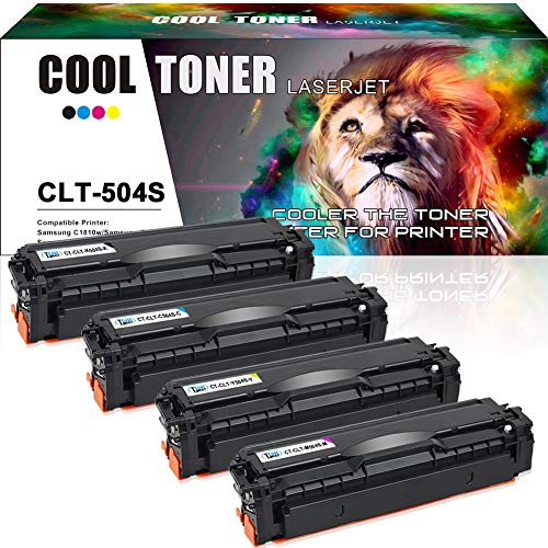 Price comparison product image Cool Toner 4PK Compatible CLT-K504S CLT-M504S CLT-C504S CLT-Y504S Toner Cartridge Replacement for Samsung CLT-504S Samsung Xpress C1860fw C1810w SL-C1860fw SL-C1810w CLX-4195fw CLP-415nw Printer Toner