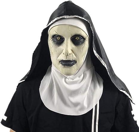 Disfraz De Monja De Halloween Mujer, 2019 Máscara De Monja con ...