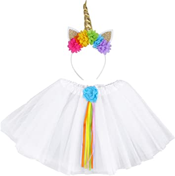 Toyvian Falda tutú Unicorn Girl Kids Pony Theme Fiesta de ...