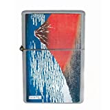 Hokusai Mount Fuji Japanese Wind Proof Dual Torch Refillable Lighter D-414