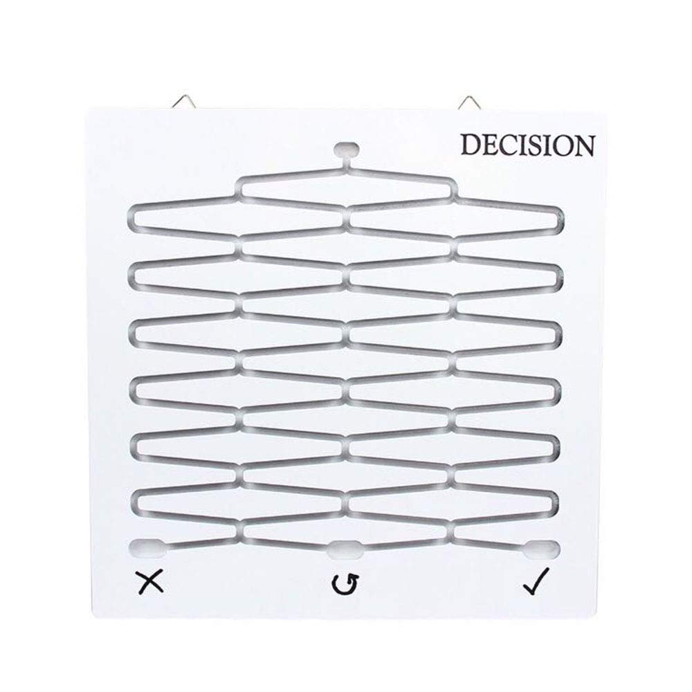 E.A@Market Creative Decision Gift Toy Decision Board,Decompression Selection Decision Ball White
