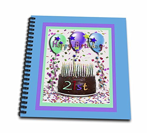 Chocolate Album 12x12 (3dRose db_20230_2 Happy Birthday Chocolate Cake 21St-Memory Book, 12 by 12-Inch)