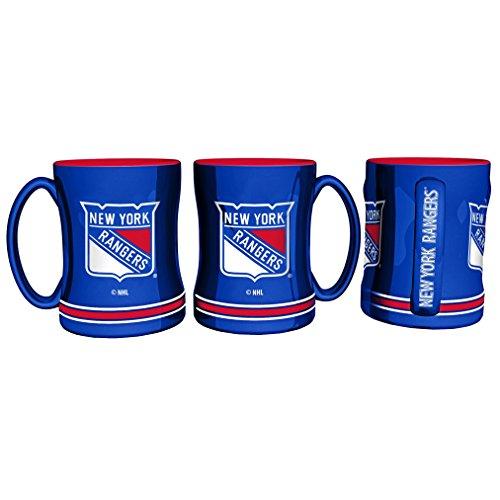 Rangers Coffee Mug (New York Rangers 14 Ounce Sculpted Logo Relief Coffee Mug (New))