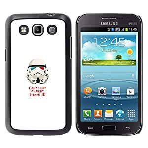 MOBMART Slim Sleek Hard Back Case Cover Armor Shell FOR Samsung Galaxy Win I8550 - Can'T Shoot Straight St0Rmtrooper