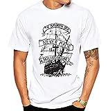 MOUTEN-Men Fashion Sailing Boat Summer Slim Fit tees White L