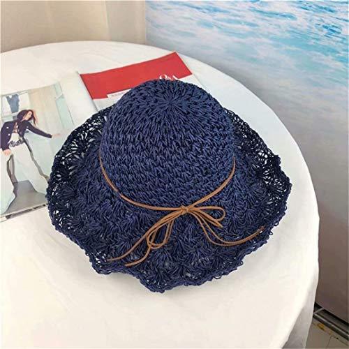[해외]LOSOUL Straw Hat Womens Summer Sun Beach Straw Hat UPF50 Foldable Wide Brim Straw Hat / LOSOUL Straw Hat Womens Summer Sun Beach Straw Hat UPF50 Foldable Wide Brim Straw Hat