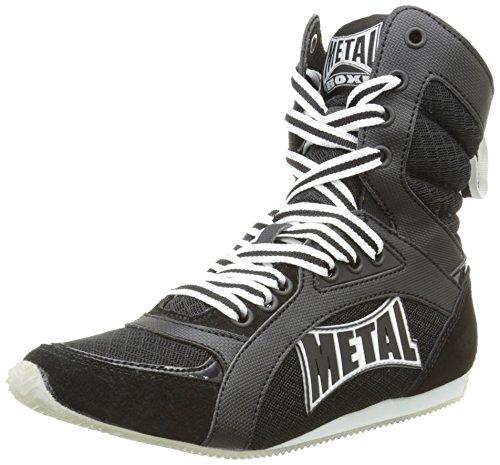 Metal Boxe Viper2- Botas altas de boxeo negro