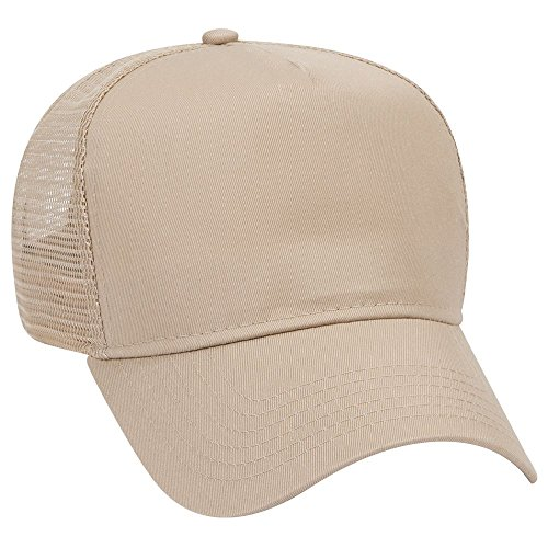 OTTO Cotton Blend Twill 5 Panel Pro Style Mesh Back Trucker Hat - - Twill Otto Cotton Caps