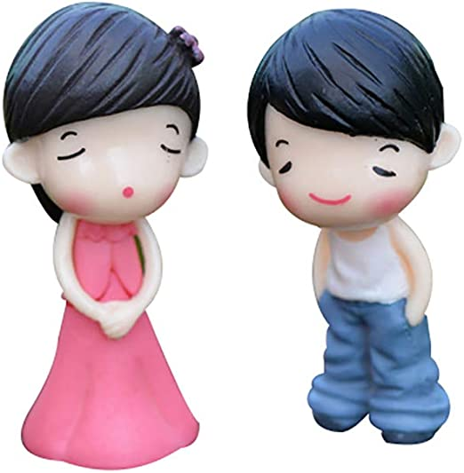 Tiansiangjjeu - Juego de 2 Mini Figuras Decorativas para jardín, PVC: Amazon.es: Jardín